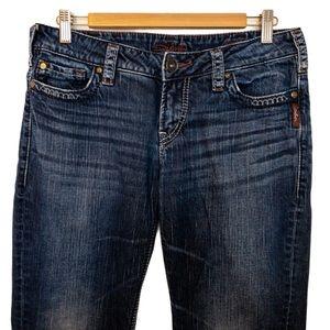 Silver Jeans Women Size 30 Santorini Capri Denim
